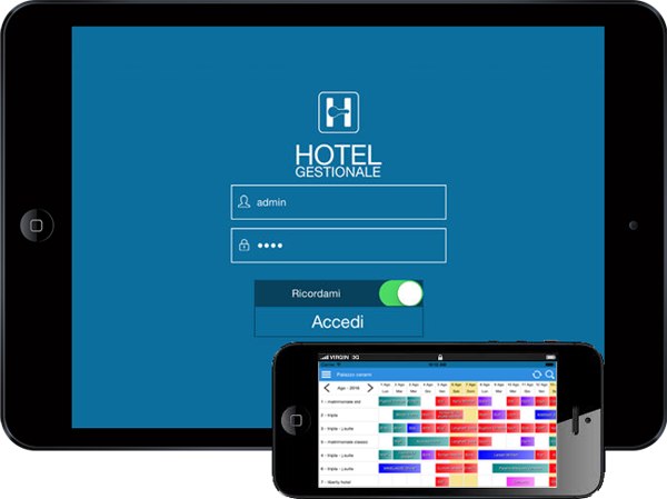 HotelGestionale Cloud APP. Disponibile per iOS e Android