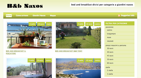 Bed and breakfast giardini naxos