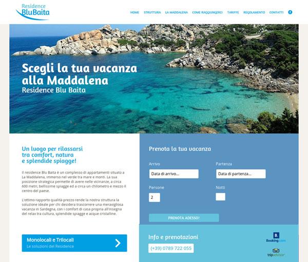 Blu Baita La Maddalena. Gestionale Plus+Channel Manager