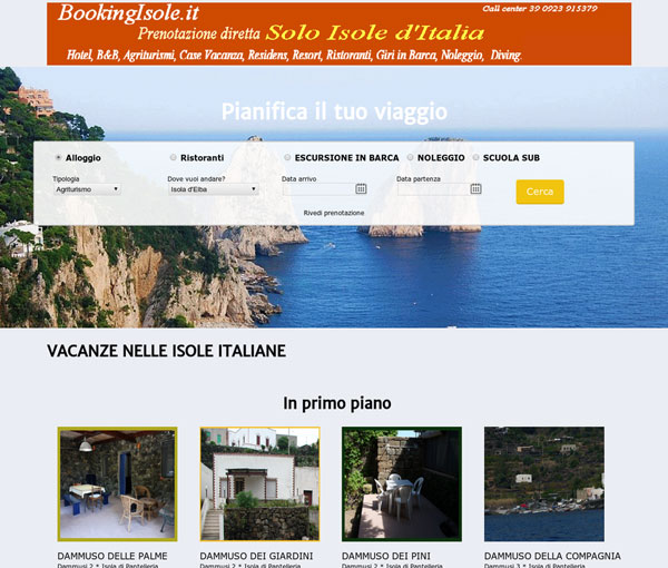 Booking Isole