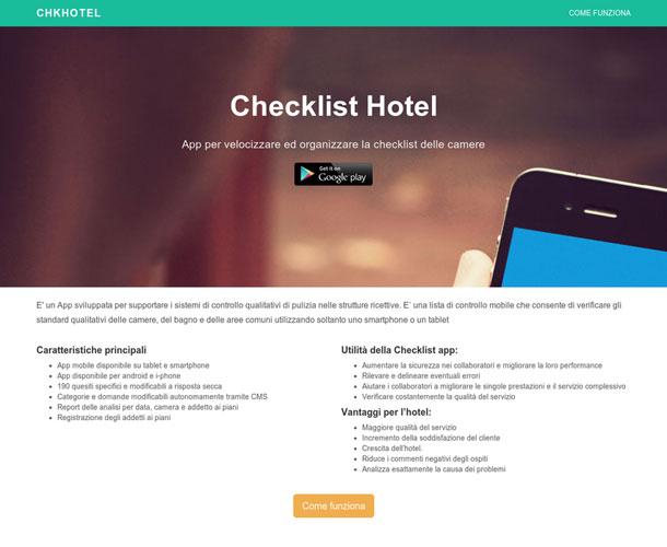 ChecklistHotel – App per velocizzare ed organizzare la checklist delle camere
