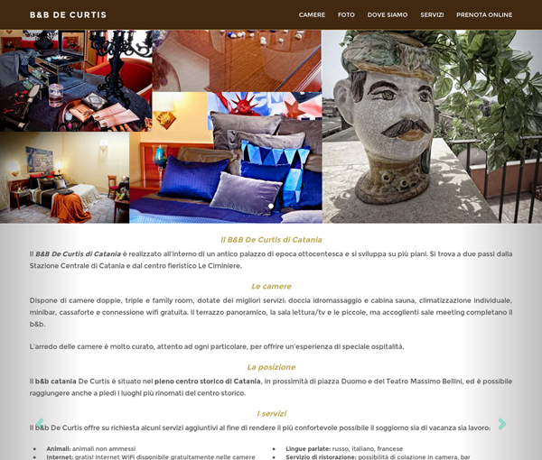 B&B De Curtis Catania. Booking online + sito web