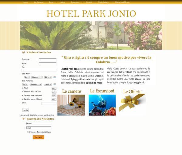 Hotel Park Jonio. Hotel gestionale