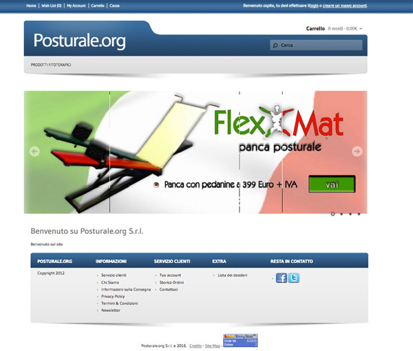 Posturale.org. Ecommerce