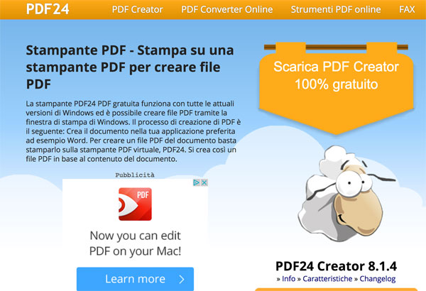Stampante pdf gratuita